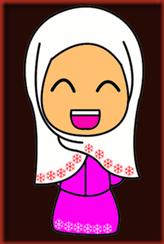 Doodle Perempuan Raya Pink