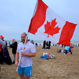 found a TRUE canadian on the beach in Scheveningen, Zuid Holland, Netherlands