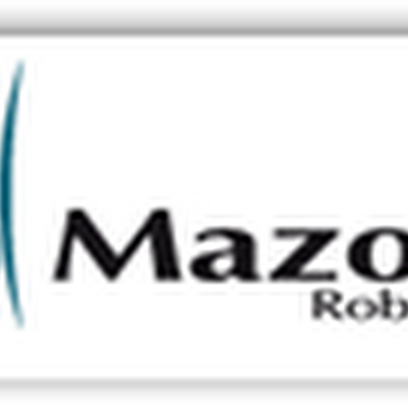 Mazor Spinal Robot Receives Both FDA and European CE Approval (Video)