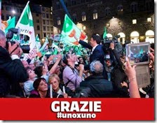 Matteo Renzi ringrazia i suoi elettori