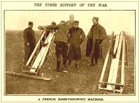 Французская рогатка-боьбомет времен первой мировой войны