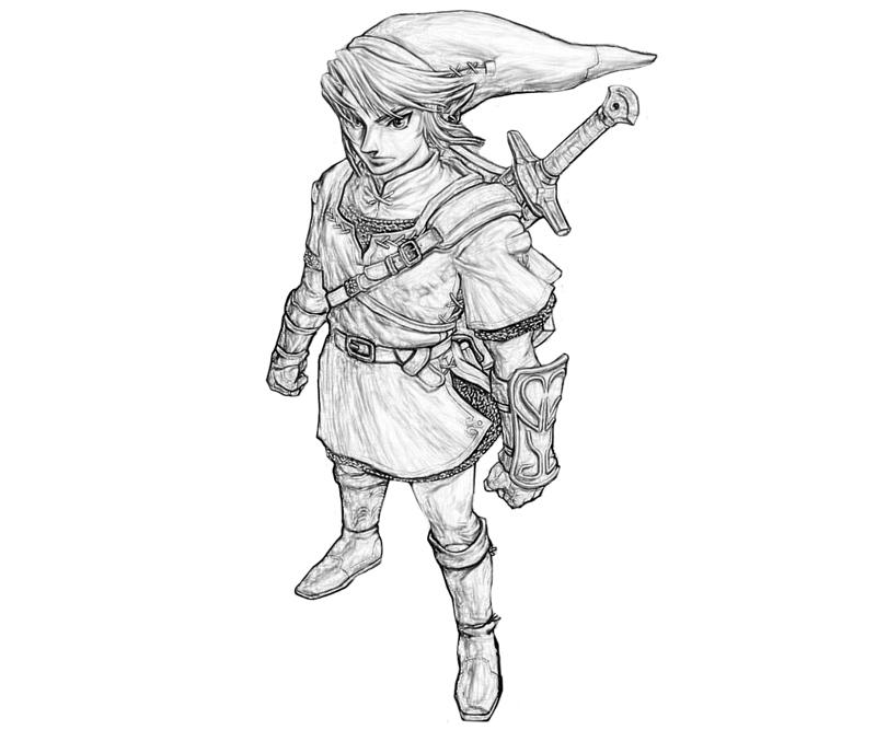 Free Coloring Pages Of A Twilight Princess Link Twilight Princess Coloring Pages Printable