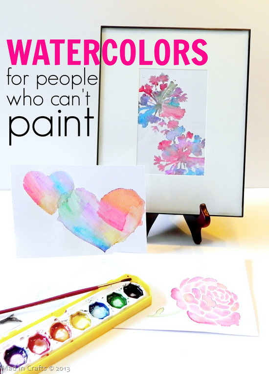 Stenciled Watercolors for People Who Can't Paint