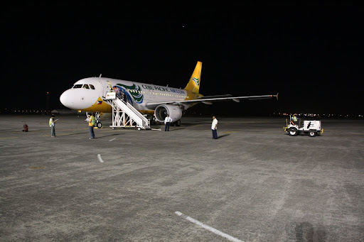 Our Cebu Pacific aircraft to Macau