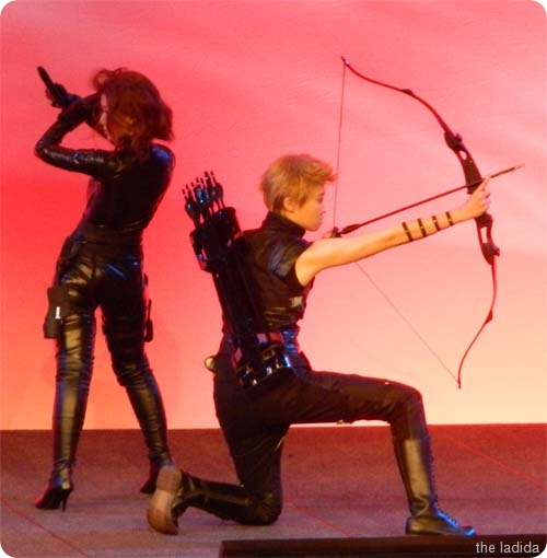 Hawkeye and Black Widow from The Avengers