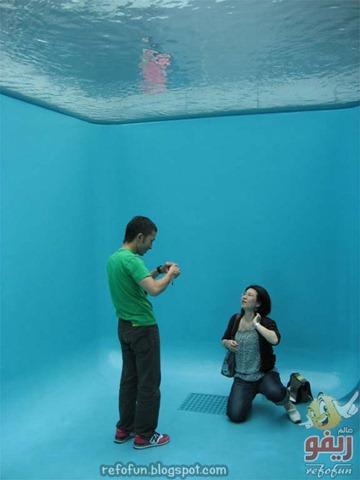 حمام سباحة لا تغرق فيه أبدا - خداع بصرى رائع