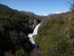 Waterfall in Parque Nacional Nahuel Huapi, Argentina.