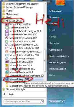 cara membuat dokumen baru office word 2010