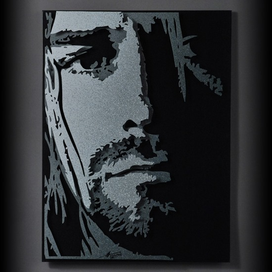 Cobain Art Black