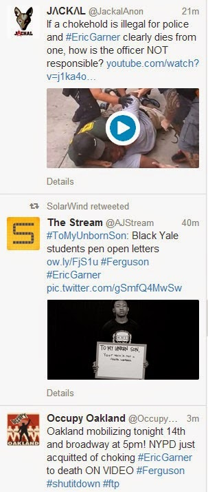 Garner tweet snips