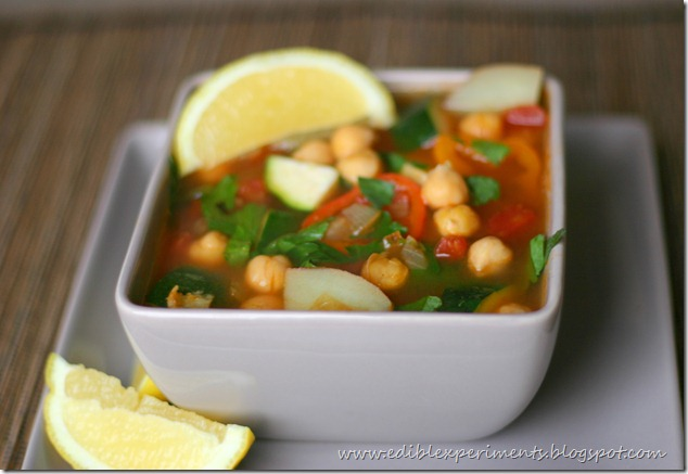 Chickpea Veggie Soup