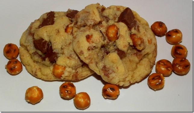 Nutella Chunk Pretzel Cookies