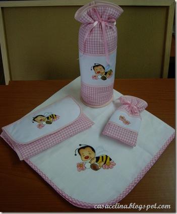 conjunto bebe abelha