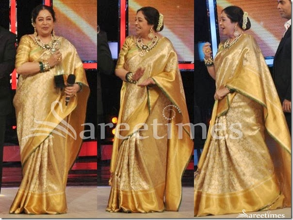 Kirron_Kher_Gold_Traditional_Silk_Saree