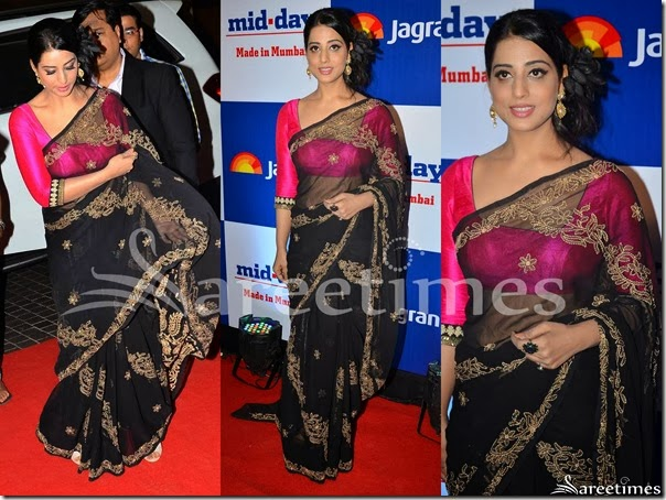 Mahi_Gill_Black_Embellished_Georgette_Saree