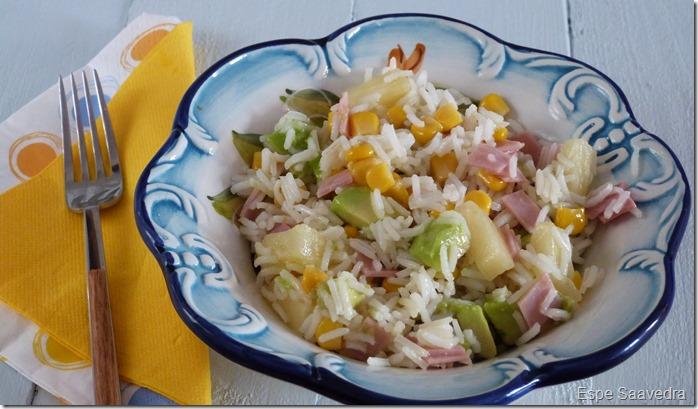ensalada tropical arroz espe saavedra