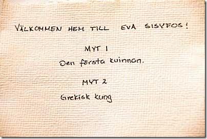 Välkommen hem till Eva Sisyfos!