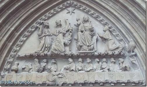 Tímpano de Santa María de Ujué