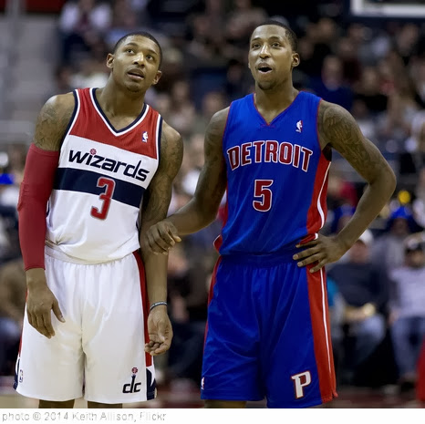 'Kentavious Caldwell-Pope, Bradley Beal' photo (c) 2014, Keith Allison - license: http://creativecommons.org/licenses/by-sa/2.0/