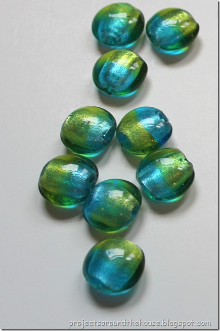 green and blue beads for diy necklace