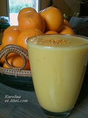smoothie orange banane kefir pollen
