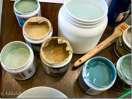 painting small paint pots
