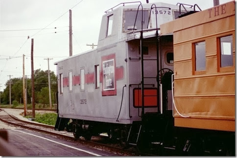55389545-30 Chicago, Burlington & Quincy Caboose #13572 at the Illinois Railway Museum on May 23, 2004