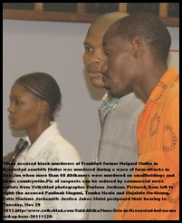 MULLER HELGARD 66 accused killers Paulina Mnguni _TembaNcale_Mojalefa Motloung PIC MARLENE JORDAAN VOLKSBLAD NOV282011