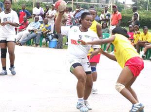Equipe Hand ball dames de la RDC.