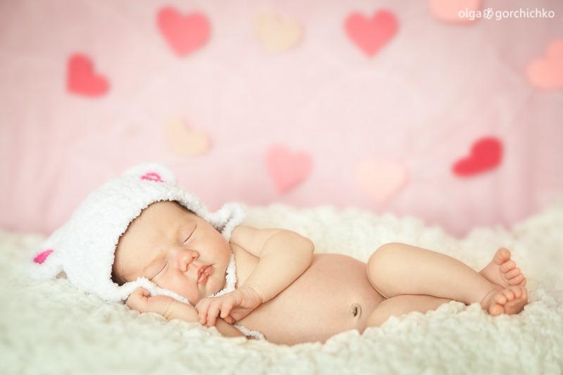 Фотосессия новорожденной в Гродно. Ксюша 2 недели_-4