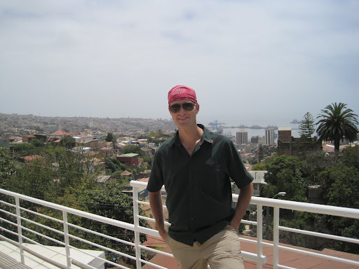 The view over Valpo from Pablo Neruda's house, La Sebastiana.