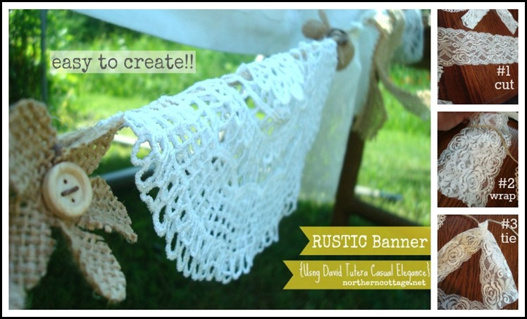 Rustic Banner step by step