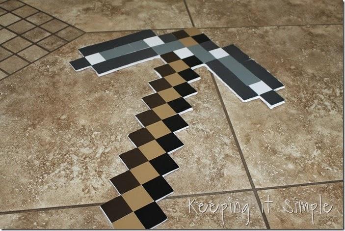 DIY-Foam-Minecraft-Pickaxe-and-Sword (5)