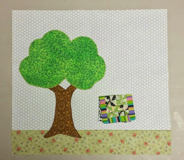 Tree Block #1 - Quilter's Garden