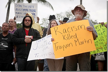 Demonstrators react to George Zimmerman's acquittal, Miami Flori