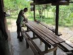 Picknick tafel maken