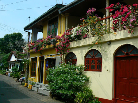Sights of Sri Lanka: the Galle streets full with flowers