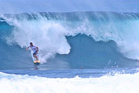 Siargao Island's 15-foot  wave