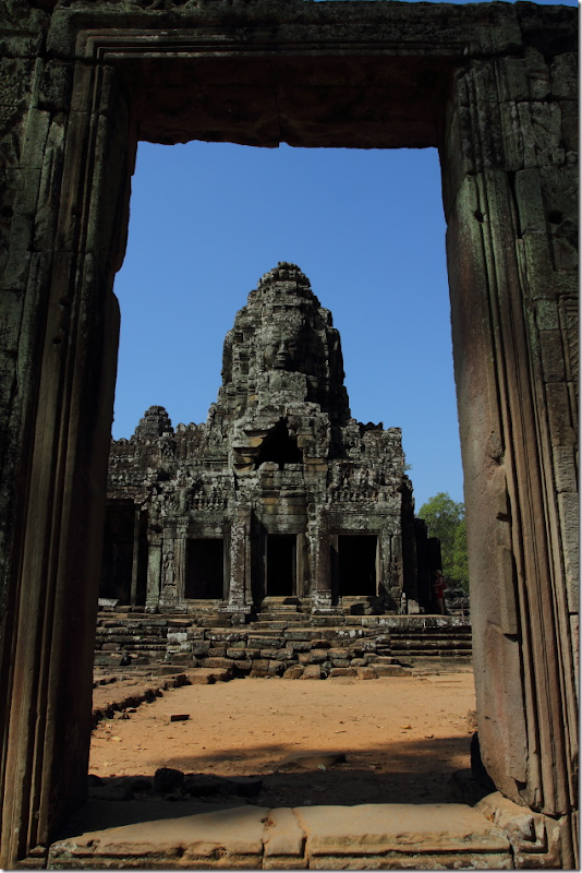 Entering the Bayon Temple, Cambodia