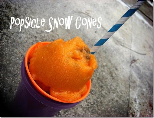 popsicle snow cones