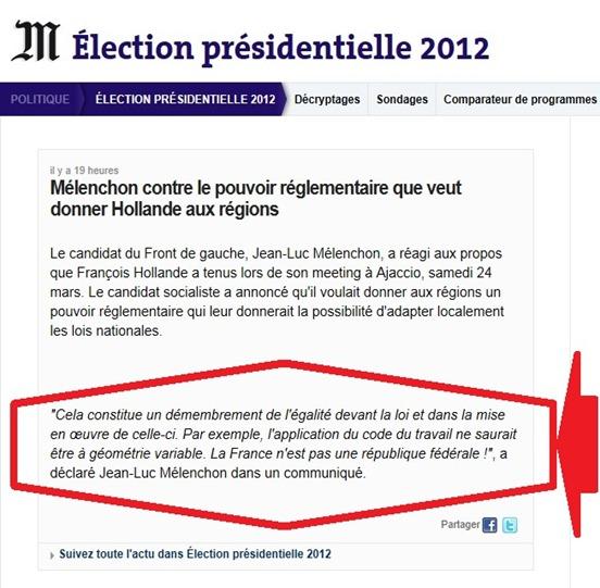 reformar l'Estat lo cas JL Mélenchon