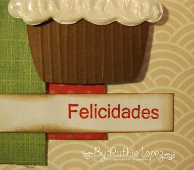 Cupcake card - Latina crafter - stamping paper