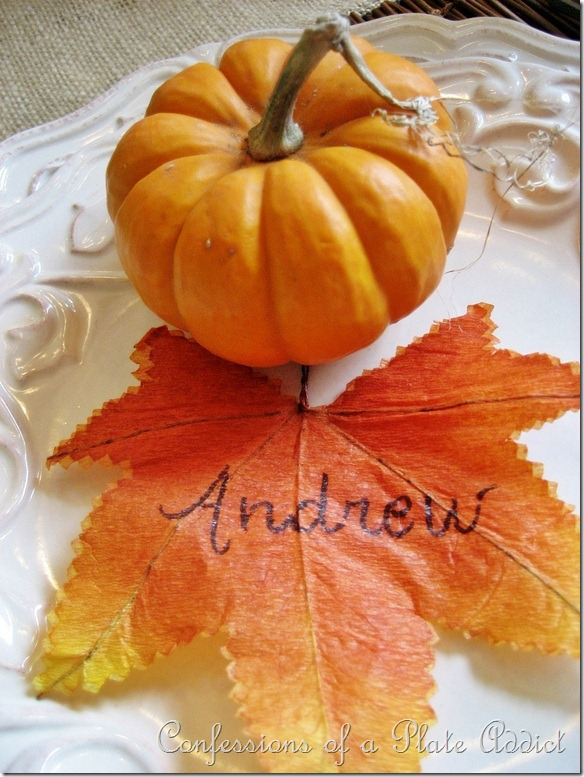 Simple Leaf Place Card
