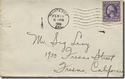 Envelope to Sig 2_15_1919