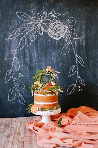 cake with olive branch