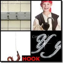 HOOK- 4 Pics 1 Word Answers 3 Letters