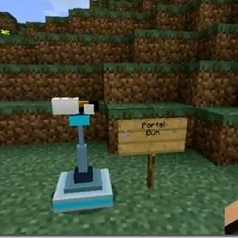 Minecraft 1.3.2 -  Portal Gun Mod (portali)