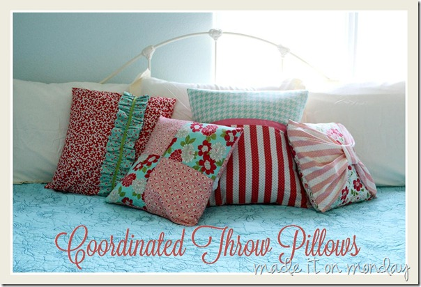 coordinated throw pillows