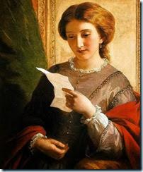 Alfred-Edward-ChalonJeune-femme-lisant-une-lettre