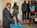 Le président de la RDC Kabila Kabange, candidat à sa succession, vote le 28/11/2011 à l'athénée de la Gombe à Kinshasa. Radio Okapi/ Ph. John Bompengo